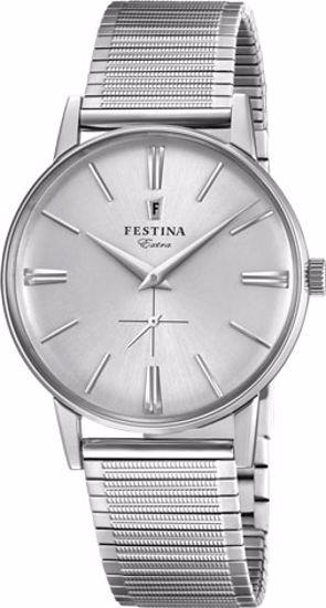 Festina Extra klokke 30m,stål, lenke, hvit skive - F20250-1