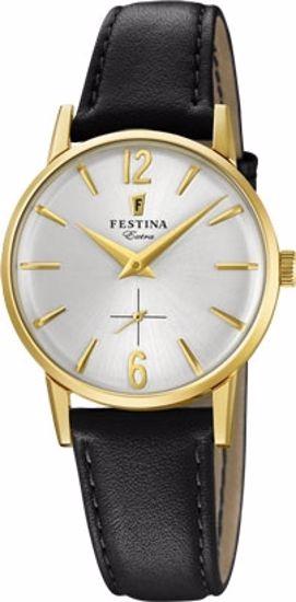 Festina Extra klokke duble 30m, brun rem, hvit skive - F20255-1