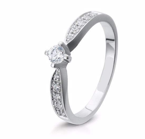 Diamantring gull med 0,23 ct W-Si. Bridel collection - 4105397