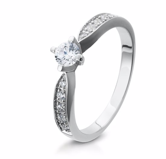 Diamantring gull med 0,38 ct W-Si. Bridel collection - 4105398