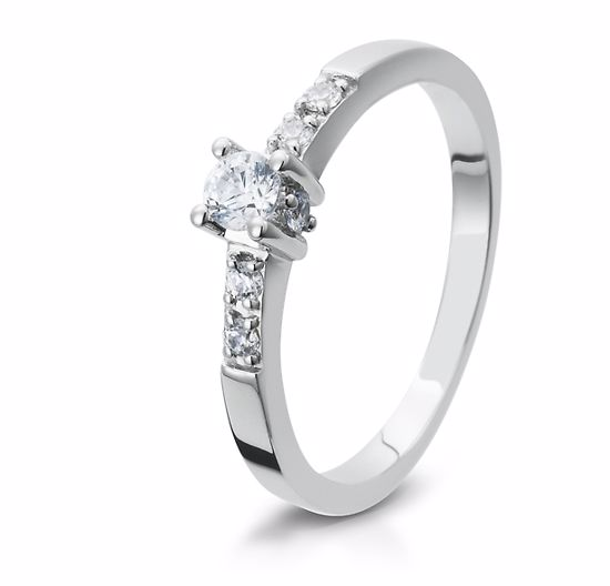 Diamantring gull med 0,24 ct W-Si. Bridel collection - 4105403