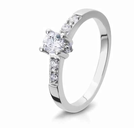 Diamantring gull med 0,41 ct W-Si. Bridel collection - 4105404