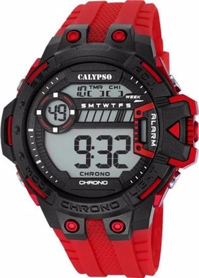 Calypso digital, rem, sort/rød - K5696-3