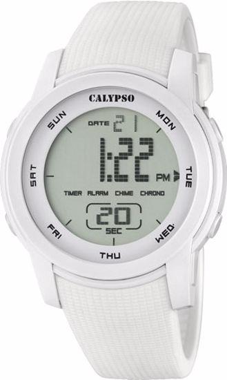 Calypso digital,100 m,hvit - K5698-1