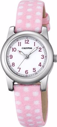 Calypso barneur 5 atm hvit/rosa rem/hvit skive - K5713-2