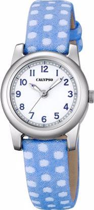 Calypso barneur 5 atm hvit/blå rem/hvit skive - K5713-4
