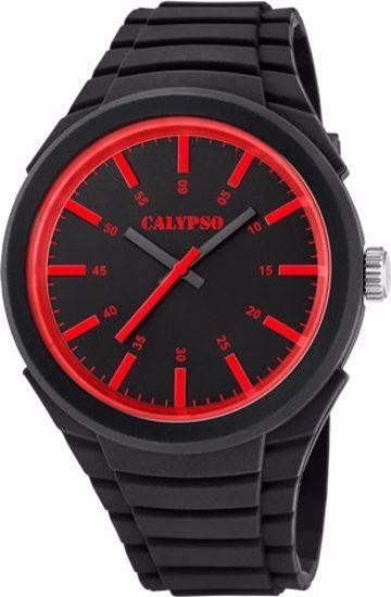 Calypso ungdomsur sort rem,sort/rød skive - K5725-2