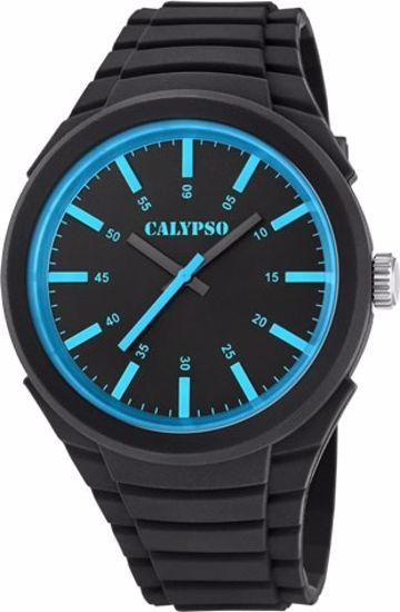 Calypso ungdomsur sort rem,sort/blå skive - K5725-3