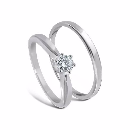 Giftering & diamantring Iselin hvitt gull 14 kt, 3 mm - 11530-COC00986