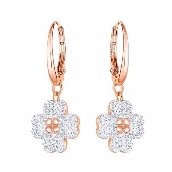 Swarovski øredobber Latisha, Rose gold plating -5420249
