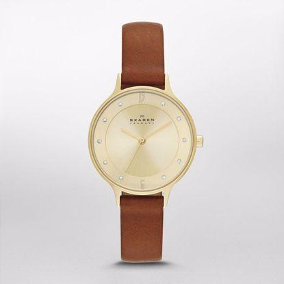 Skagen Anita Brown Leather Watch - SKW2147P