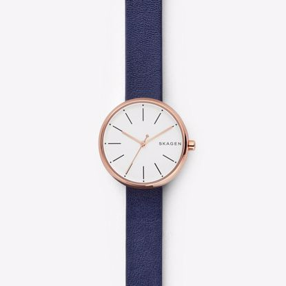 Skagen Signatur Blue Leather Klokke - SKW2592P