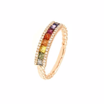 Rubin diamantring i rosé gull 18 kt med diam 0,11ct. GOVONI - RF134500SM-01