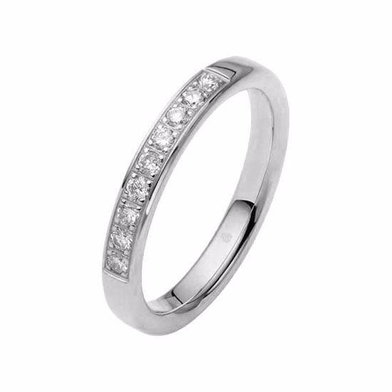 Flerstens diamantring med 0,27 ct W-Si i 9kt gull - 110346399