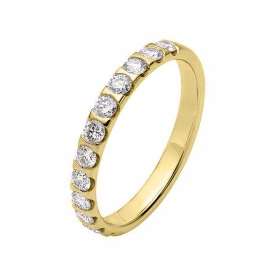 Flerstens diamantring med 0,60 ct W-Si i 9kt gull - 4136212999