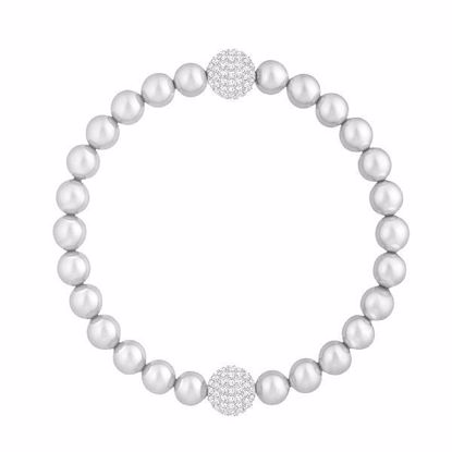 SWAROVSKI REMIX COLLECTION LIGHT GRAY PEARL ARMBÅND - 5364103