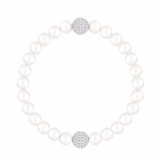 SWAROVSKI REMIX COLLECTION WHITE CRYSTAL PEARL ARMBÅND - 5365736