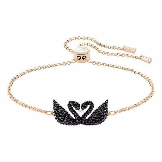 Swarovski armbånd Iconic Swan, Rose gold plating - 5344132