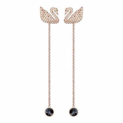 Swarovski øredobber Iconic Swan - 5373164