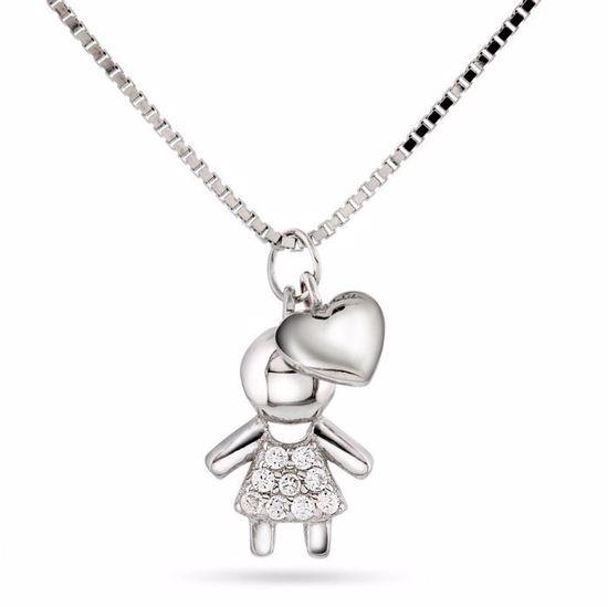 Smykke i sølv. Jente og Hjerte - 64066