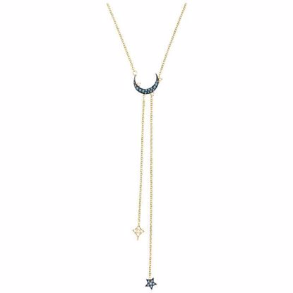 Swarovski collier Duo Moon Y, Teal - 5412630