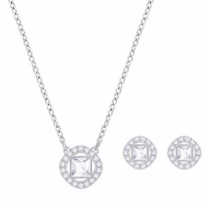 Swarovski smykkesett. Angelic Square, Rhodium plating - 5356951