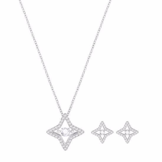 Swarovski smykkesett. Sparkling Dance Star, Rhodium plating - 5349667