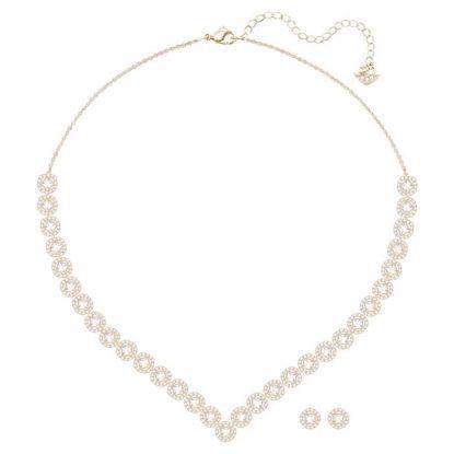 Swarovski smykkesett Angelic Square, Rose gold plating - 5351304