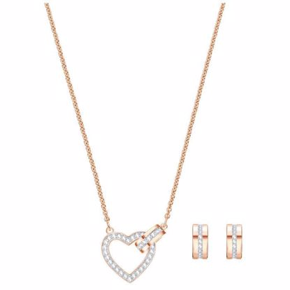 Swarovski smykkesett Lovely, Rose gold plating - 5380718