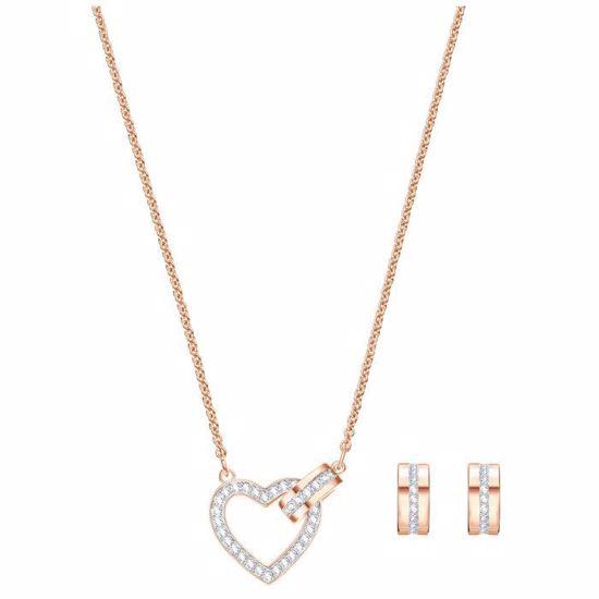 Swarovski smykkesett Lovely, Rose gold plating - 5380718