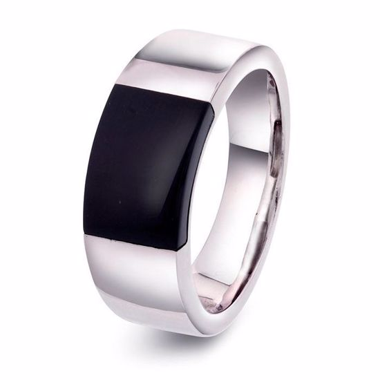Herre ring i sølv med sort onyx. Alexander - 972249