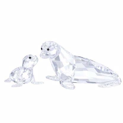 Swarovski figurer. Sea Lion Mother with Baby - 5275796