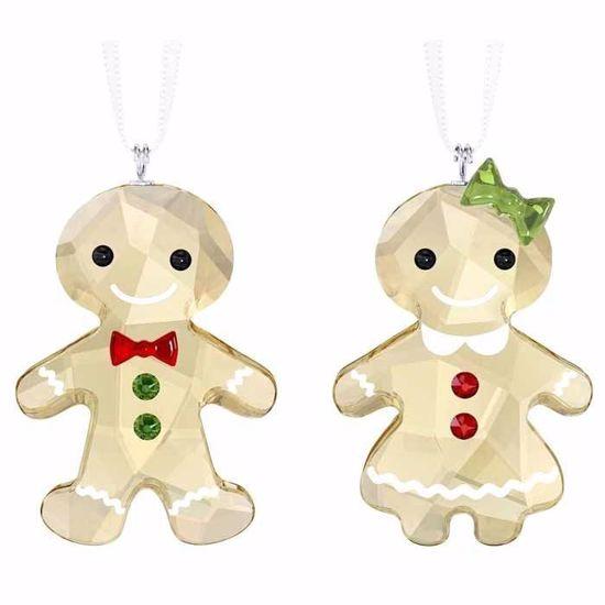 Swarovski figurer. Gingerbread Couple Ornament Set - 5281766