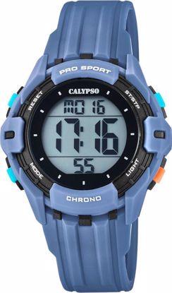Calypso klokke. Digital, blå/sort - K5740-1