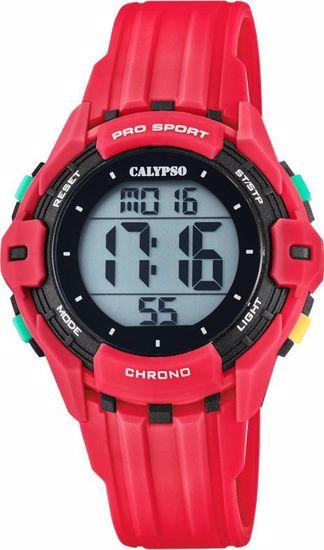 Calypso klokke. Digital, rød/sort - K5740-3