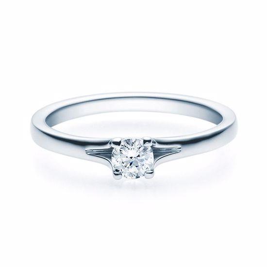 Enstens platina diamantring med 0,25 ct TW-Si -18020025pt