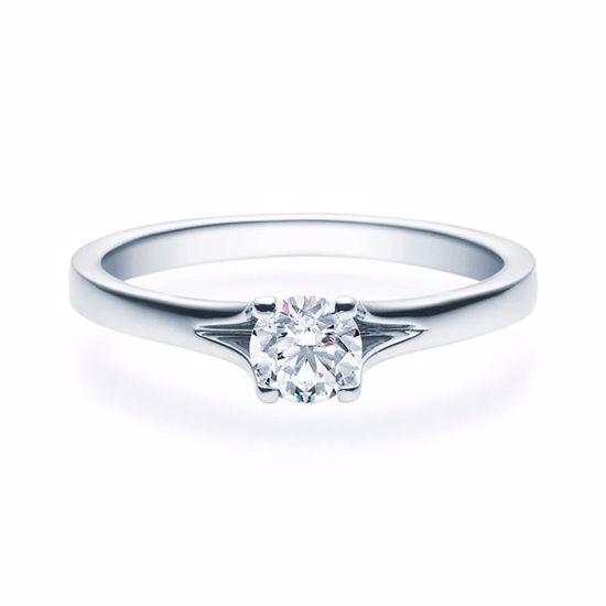 Enstens platina diamantring med 0,40 ct TW-Si -18020040pt