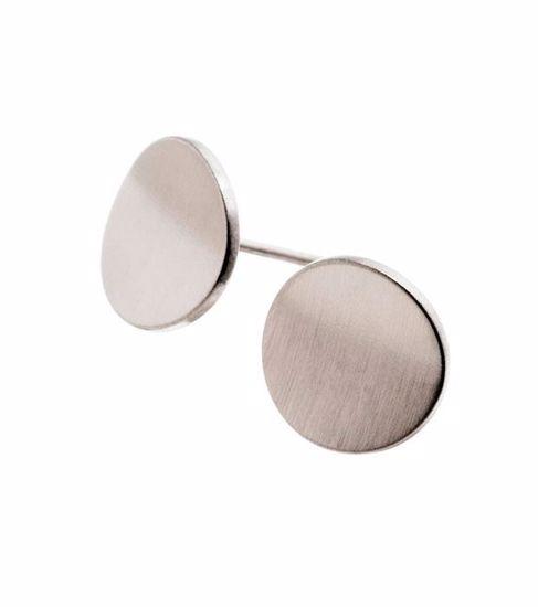 EDBLAD øredobber. Concave Matt Steel - 2173012
