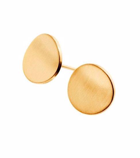 EDBLAD øredobber. Concave Matt Gold - 2173013