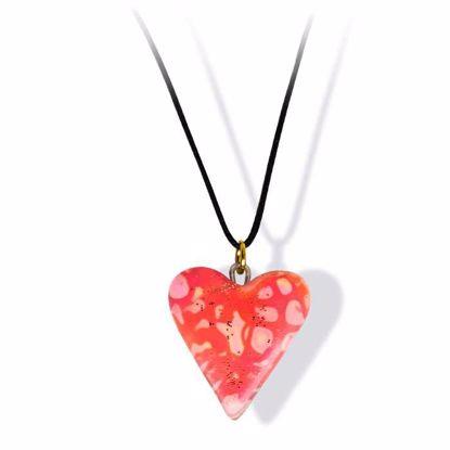 Håndlaget smykke, hjerte -2802031