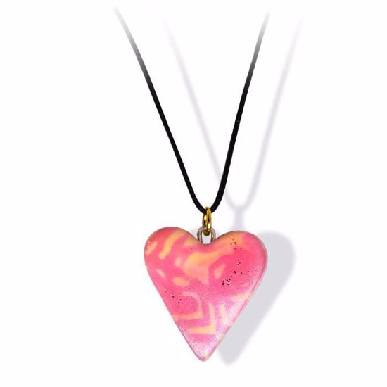 Håndlaget smykke, hjerte -2802034
