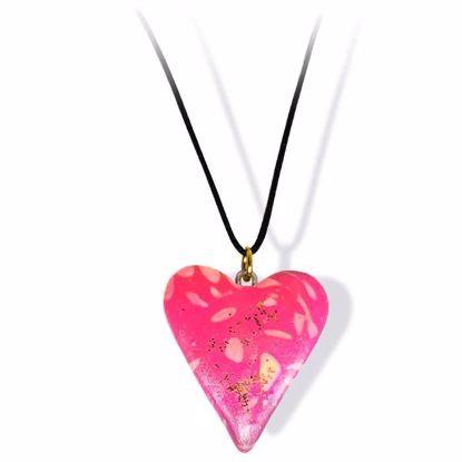 Håndlaget smykke, hjerte -2802042
