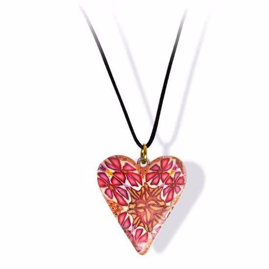Håndlaget smykke, hjerte -2802052