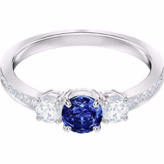 Swarovski ring. Attract Trilogy Round - 5448850