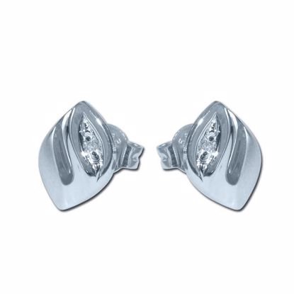 Diamant øredobber i gull med 0,010 ct -BUR75040013