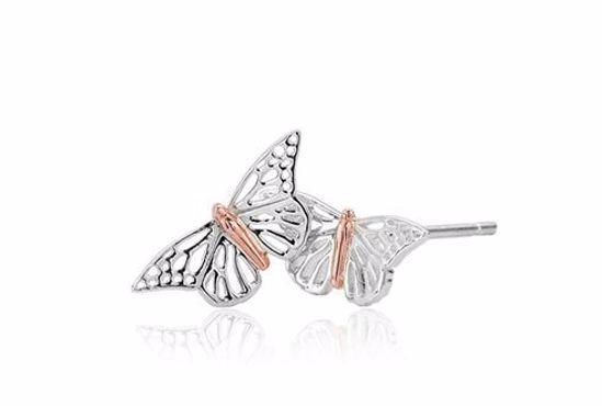 Sølv øredobber Butterfly Stud - 3SBWLE01