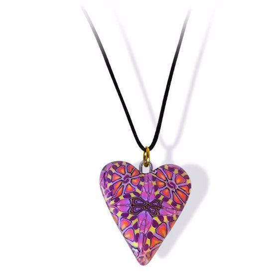 Håndlaget smykke, hjerte -2802060