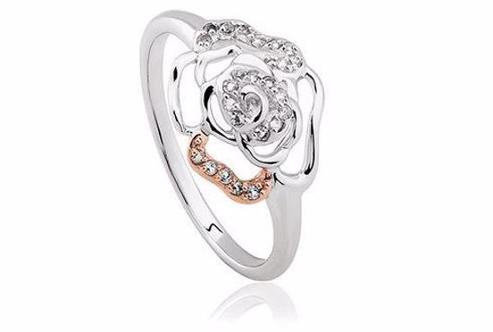 Sølvring Royal Roses® Topaz - 3SRORR3