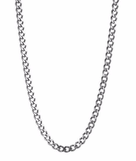Herrekjede IKE i stål 52cm/6cm - 520620