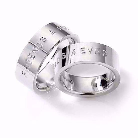 Samboerringer i sølv, 8 mm. ESPELAND - 2720301